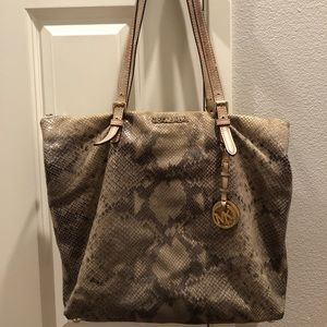Michael Kors Bags - Michael Kors Snake Print Leather Bag